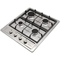 WINDMAX 23.6 Stainless Steel Built-In 4 Burners Gas Cooktop Liquid Natural Gas Hob