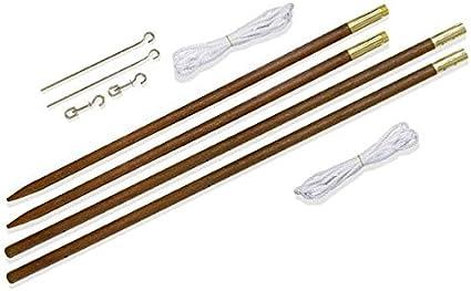 Set de 2 palos de madera para el montaje de Velas de Sombra: Amazon.es: Hogar
