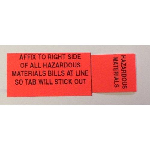 HazMat Shipping Paper Tab - Haz Tabs - Hazardous Material, Adhesive Labels - Shipping Labels Hazardous