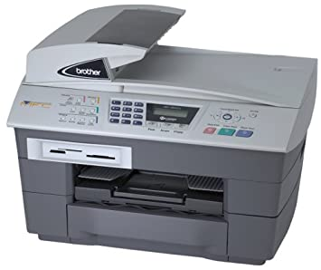 Brother MFC-5840CN Network Color Inkjet Multifunction Printer with Photo Capture Center