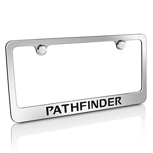 Frame Pathfinder Nissan License Plate - Nissan Pathfinder Chrome Metal License Plate Frame