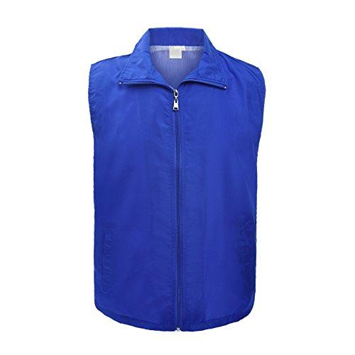 TOPTIE Supermarket Volunteer Activity Vest Full Zipper Uniform -