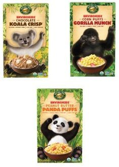 Envirokidz Gorilla Munch, Koala Crisp and Panda Puffs Cereal Variety 3 (Envirokidz Panda Puffs)
