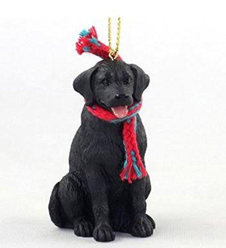 Labrador Retriever Black with Scarf Christmas Ornament Large 3 inch version Dog - Black Lab Christmas Ornament
