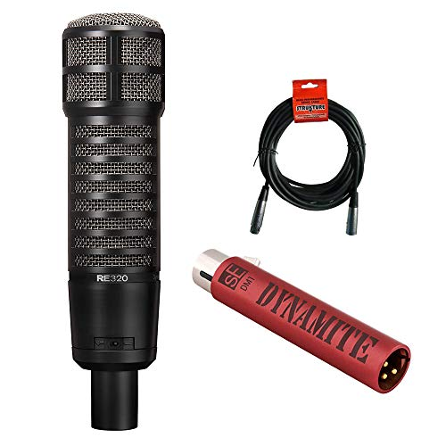Electro-Voice RE320 Variable-D Dynamic Vocal and Instrument Microphone with sE Electronics DM1 Dynamite Mic Preamp & 20' XLR Cable ()