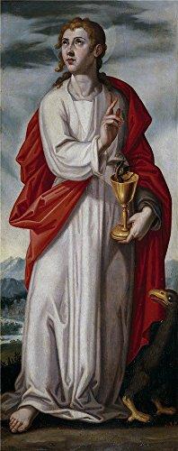 MIGAGA Pacheco Francisco San Juan Evangelista Ca. 1608 ' Oil Painting, 20 X 51 Inch