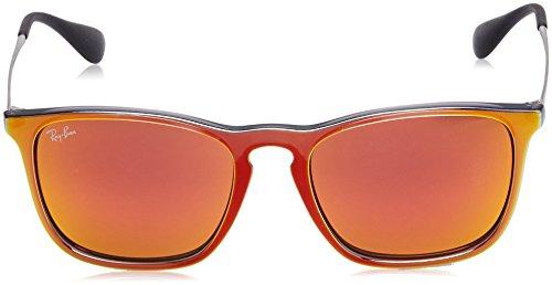 Grey Sunglasses Orange Ray Men's ban Mirror Non polarized Mm Flash Square Iridium Chris 54 wTgZwq8
