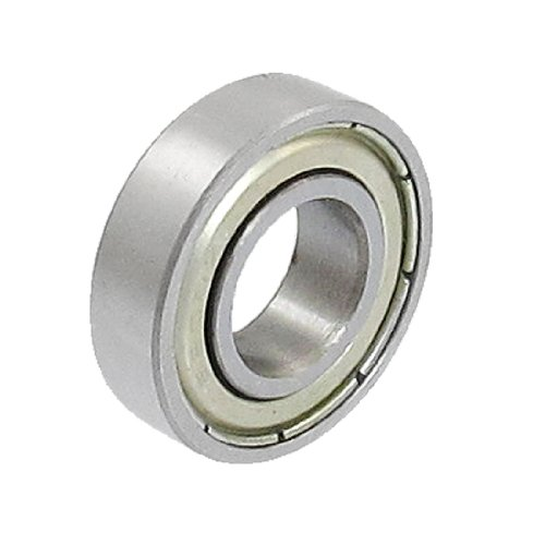Uxcell a12102200ux0351 10mm x 22mm x 6mm 6900 Shielded Miniature Deep Groove Radial Ball Bearing, 0.24