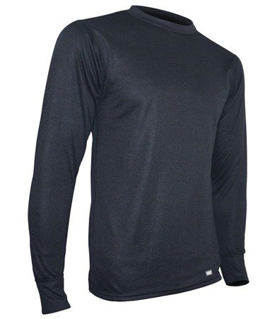 - Polarmax Men's Double Base Layer Long Sleeve Crew Tee (Black, XX-Large)