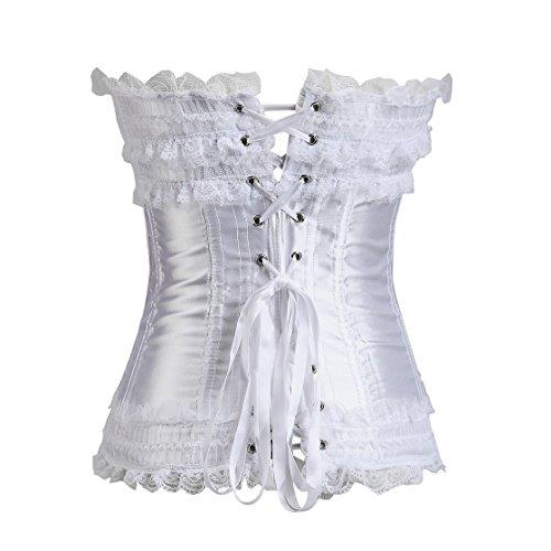 Dissa® FOB070 Mujer Lencería y ropa interior Corsés y bustiers(S-XXL) Blanco