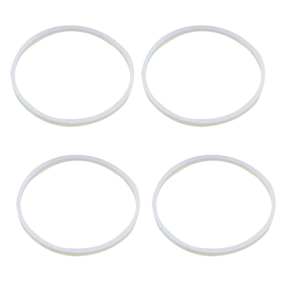 Anbige 4PCS White Rubber Sealing O-Ring Gasket Replacement Parts for Ninja Juicer Blender Replacement Seals (4 10cm gaskets)