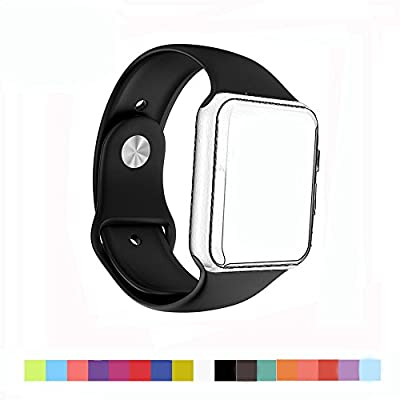 Apple Watch Band - Generic Soft Silicone Sport Style Replacement iWatch Strap for 38mm Apple Watch Models