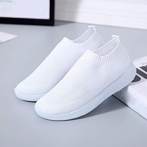 Sneakers Scarpe Runing Bianco Tinta Mesh Outdoor Sport Traspirante Donne Unita Bhydry Bxf0Ywzqf