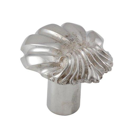 Vicenza Designs K1102 Shell Knob, Large, Polished Silver ()