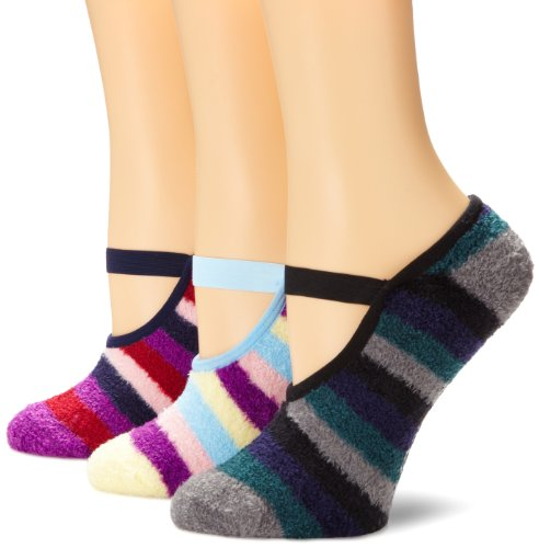 Muk Luks Womens Striped Buttercreme Maryjane Con Aloe 3 Paia Confezione Multi