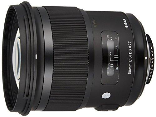 Price comparison product image Sigma 50mm F1.4 DG HSM Art Lens for Nikon Cameras - Fixed - International Version (No Warranty)