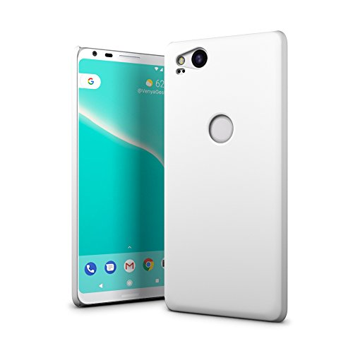 (SLEO Google Pixel 2 Case - Rubberized Hard PC Back Case Cover for Google Pixel 2 Phone - White)
