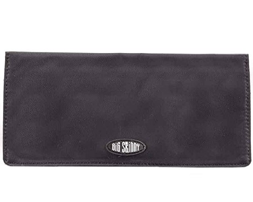 Big Skinny Women's Executive Bi-Fold Checkbook Slim Wallet, Holds Up to 40 Cards, Black by Big Skinny (Image #2)