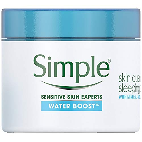 Simple Water Boost Skin Quench Sleeping Cream, 1.7 Fl Oz, 3-pack