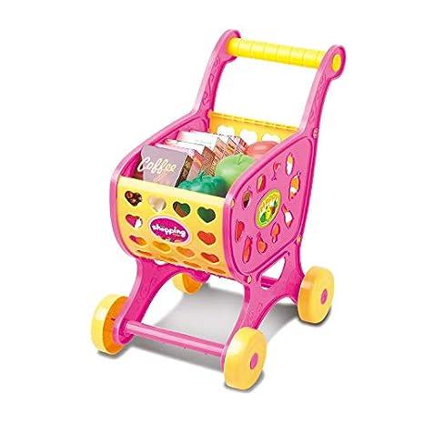 VIDOO Mini Supermercado del Emulational Carro Plástico Modelo Divertido Carro Carro Niños Supermercado Carro Juguetes-Rosado: Amazon.es: Hogar