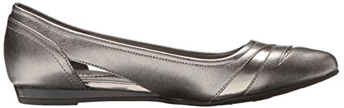 Lifestride Womens Quizzical Toe Flat Peltro
