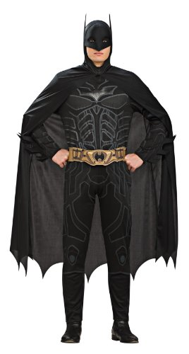 Batman Dark Knight Costumes Adults (Rubie's Costume Co Batman Dark Knight Rises Adult Batman Costume, Black, Medium)