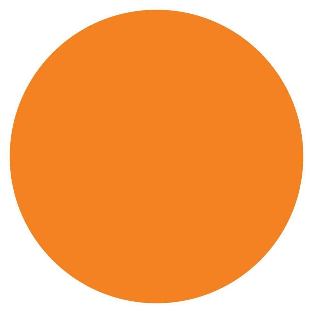 DayMark 112243 MoveMark Orange 3/4'' Blank Day Circle - 2000 / RL