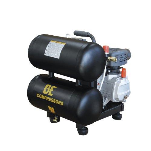 B E Pressure AC205X 5 gallon Twin Tank Compressor, 2.0 hp, 120V