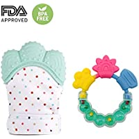 Baby Toddle Teething Mitten & Teething Ring (Teething...