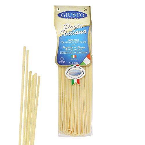 Giusto Sapore Italian Pasta - Spaghetti alla Chitarra 500g - Premium Bronze Drawn Durum Wheat Semolina Gourmet Pasta Brand - Imported from Italy and Family (Italian Spaghetti)