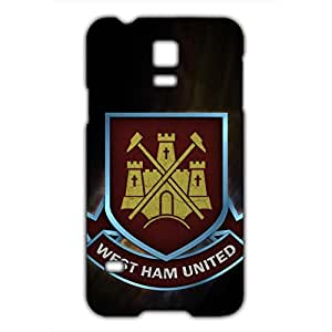 West Ham United FC Logo Phone Case for Samsung Galaxy S5 Mini 3D Black Slip On Cover