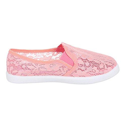 Ital-Design - Zapatillas de Material Sintético para mujer, color Blanco, talla 39 UE