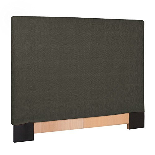 Howard Elliott K124-201 Slipcovered Headboard, King, Sterling Charcoal - Upholstered Headboard Slipcover
