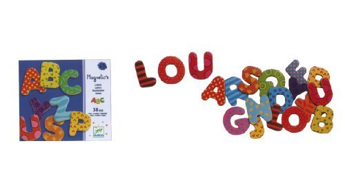 Djeco / Wooden Magnet Play Set, Alphabet Letters by Djeco