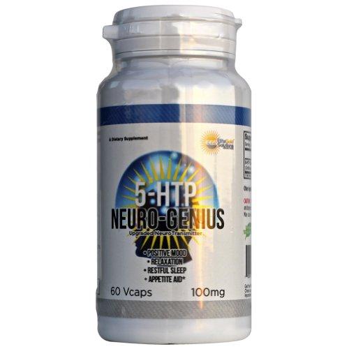 5-HTP 100mg Release Time Capsules, Meilleur pur 5-htp Extrait Neuro-génie (positive humeur, détente, paisible sommeil, l'appétit de l'aide) de mise à niveau des neurotransmetteurs naturels Mood Boost pilules végétariens Complémentaires 100% garanti
