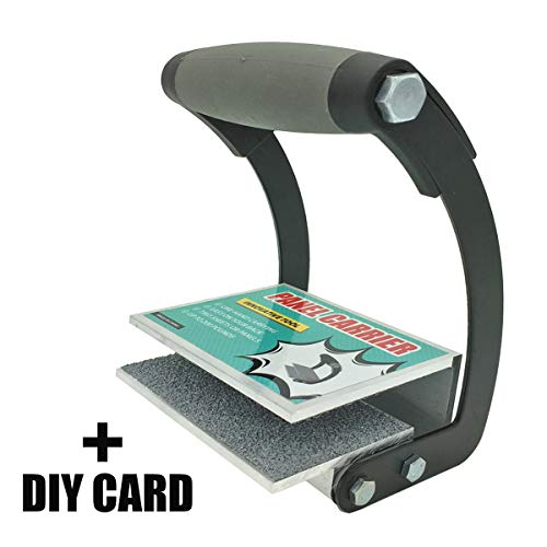 CartLife Plywood and Drywall Panel Carrier Tool,Sheetrock Gripper,Heavy Duty Metal Gripper for Clamp Wood Board or Drywall Lifter with Single Hand (No Back Pain)