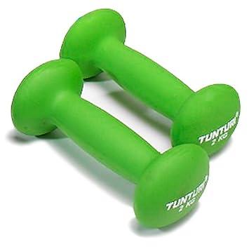 Colore: Verde 2 kg Tunturi Manubri in Neoprene Confezione da 2
