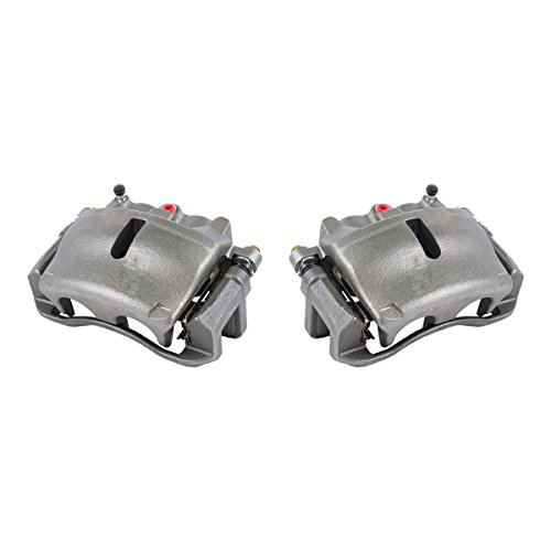CKOE00989 [ 2 ] FRONT [ 2WD 4WD ] Premium Grade OE Semi-Loaded Caliper Assembly Pair - Ford Caliper F150 Brake