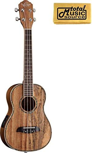Oscar Schmidt OU11TE Tenor A/E Ukulele, Spalted Mango/Koa Wood, Two Tone, w/ TMS PC - Koa Tone Wood