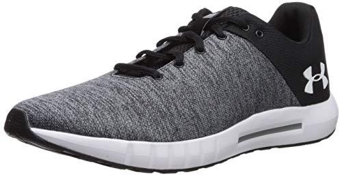 Under Armour Men's Micro G Pursuit Twist Running Shoe, Black (001)/White, 15
