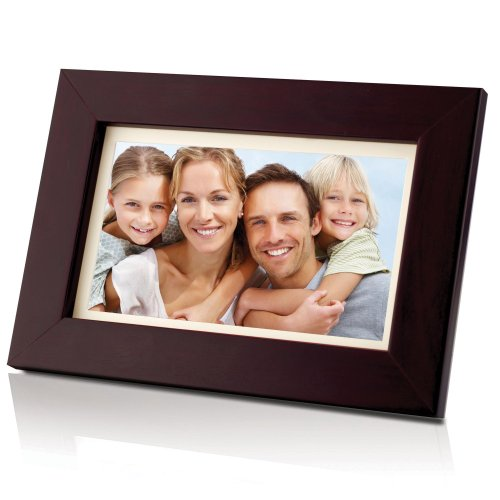 Coby DP700WD 7-Inch Widescreen Digital Photo Frame -Wood Design (Electronic Frame Picture Coby)
