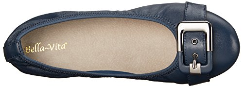 Bella Vita Women's Twirl Ballet Flat Navy Leather sale perfect discount limited edition N6qxibw