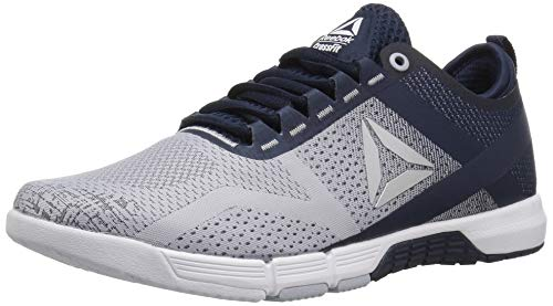 Reebok Women's CROSSFIT Grace Tr Cross Trainer, Cloud Grey/Collegiate Navy, 9.5 M US