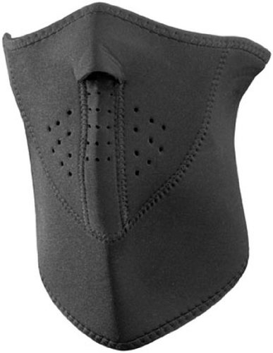 Zan Headgear 3 Panel Half Mask - Black