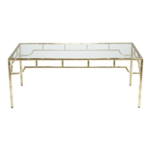glass and brass coffee table - 7
