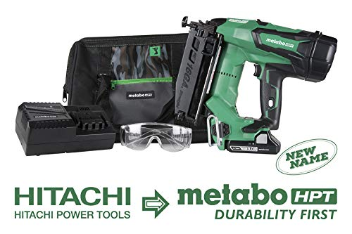 Metabo HPT Cordless Finish Nailer Kit | Unique Air Spring Drive System | 18V - 3.0 Ah Lithium Ion Battery | Brushless Motor | 16 Gauge | Lifetime Tool Warranty (NT1865DM)