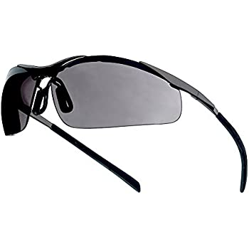 boll safety 253 cm 40050 contour safety eyewear with silver metal tpe semi rimless frame and smoke lens