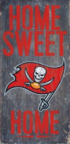 Tampa Bay Buccaneers Wall Hanging - Fan Creations Tampa Bay Buccaneers Home Sweet Home Wood Sign 12