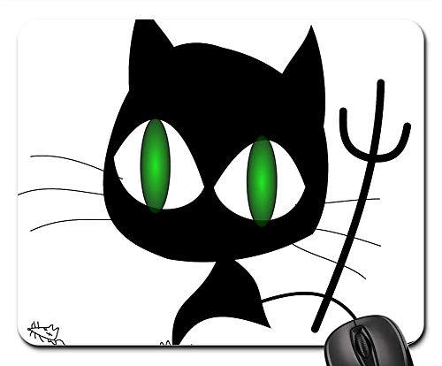 Mouse Pads - Cat Black Evil Halloween Devil