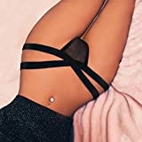 - 41C1FbObw2L - Howstar Sexy Underwear Panties for Women T-String Thongs Knickers G-String Mesh Strappy Bandage Lingerie Briefs